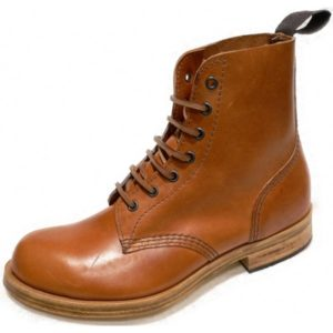 178 Tan Waxy Leather Sole Boot